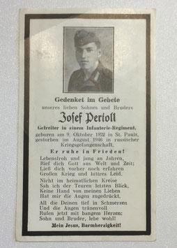 Deathcard of 'Josef Pertoll'