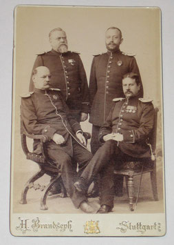 CDV German officers - Stuttgart