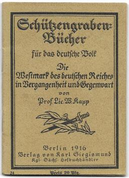 Schützengraben-Bücher für das deutsche Volk N°24 - 1916