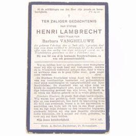 Doodsprentje 'Henri Lambrecht'