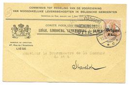 Bericht van betaling voedingskomiteit - 1917