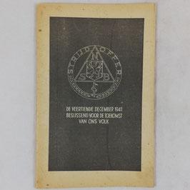 Strijdoffer - NSB - 1941