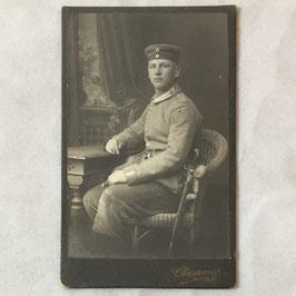 CDV Duits soldaat met bajonet