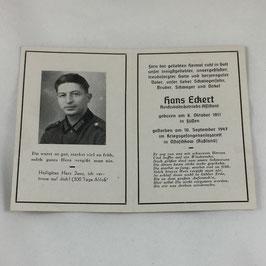 Deathcard of 'Hans Eckert'