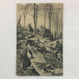 Belgian Postcard 'Yser 1914 - Taube abbatu par les autocanons belges'