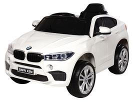 BMW X6M 2018 1 Sitzer Kinder Elektroauto - weiß