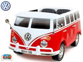 VW Bus Bulli  T1  2-Sitzer Samba Camper - Rot - Fun KidCars - Elektroauto