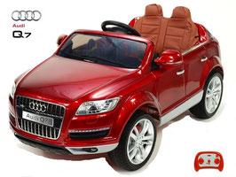 AUDI Q7 SUV Doppelsitz - weinrot lackiert - Fun KidCars - Elektroauto