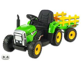 Traktor mit Anhänger - grün