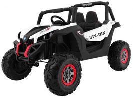 UTV Buggy MX 2 Sitzer Allrad 4x4 Luxus 2.0 Kinder Elektroauto - weiß/schwarz