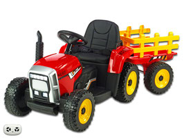 Traktor mit Anhänger - rot