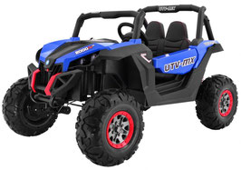 UTV Buggy MX 2 Sitzer Allrad 4x4 Luxus 2.0 Kinder Elektroauto - blau/schwarz