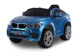 BMW X6M 2018 1 Sitzer Kinder Elektroauto - blau lackiert