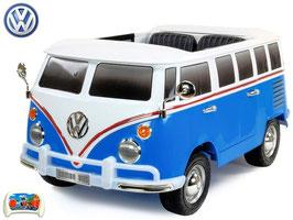 VW Bus Bulli  T1  2-Sitzer Samba Camper - Blau - Fun KidCars - Elektroauto