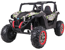 UTV Buggy MX 2 Sitzer Allrad 4x4  Kinder Elektroauto - Jungle Army