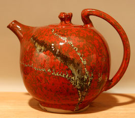 THEIERE ROUGE DE FER / iron red teapot