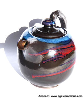THEIERE 'NEIGE SUR L'ETNA' / Teapot 'Snow on the Etna'