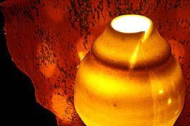 """Sculpture luminaire """"éclosion 1"""""""