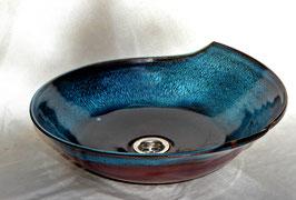Lavabo poussière bleue