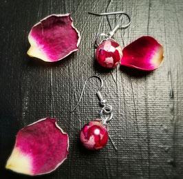 Ohrringe mit Blüten aus Brautstrauß