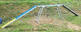 Agility Laufsteg, Agility Steg fur Hunde, Callieway® Agi Dog Walk 7,2m gummiert