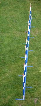 """Agility Slalom """"Blue-Trophy"""" Callieway® - 12Stangen FCI Agi Slalom (3teilig)"""