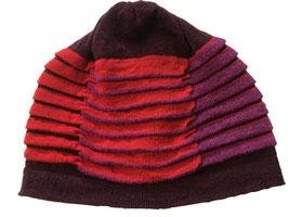 muts flapplooi wol d.rood rood fuchsia