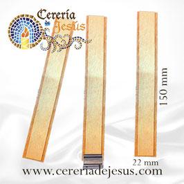 Pabilo de madera DOBLE 20x150 mm