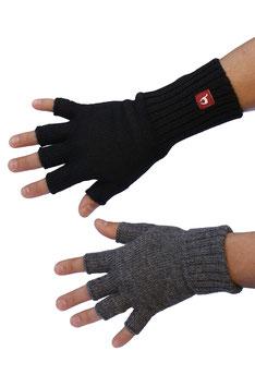 Handschuhe HALBFINGER Alpaka fingerlos