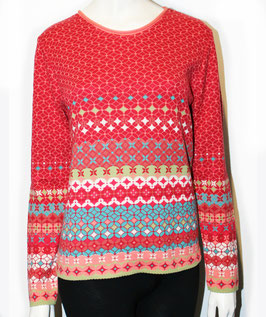 Dunque Pullover Jacquard Rot