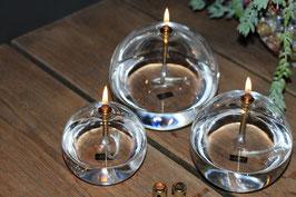 Set olielamp S M L , fles olie en trechtertje