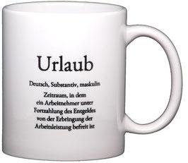"""Wortschatztasse """"Urlaub"""""""