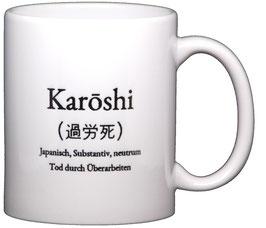 """Wortschatztasse """"Karoshi"""""""