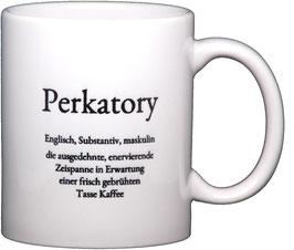 "Wortschatztasse ""Perkatory"""
