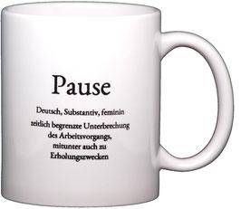 """Wortschatztasse """"Pause"""""""