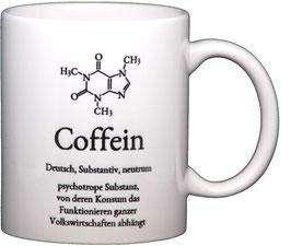 """Wortschatztasse """"Coffein"""""""