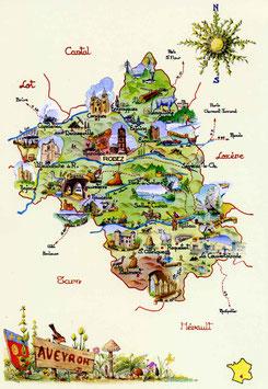 Carte postale de l'Aveyron