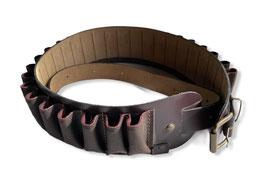 Canana en piel de serraje engrasada con rabillo regulable calibre 12
