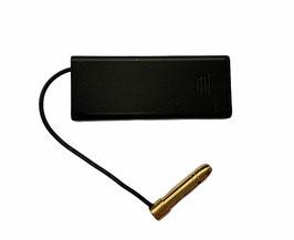 Colimador láser bala para calibre 22 con batería externa.