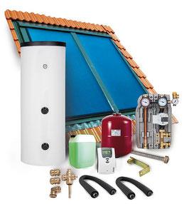 Solarpaket SUNEX S.A, Indachmontage, 8,08 m² Bruttokollektorfläche