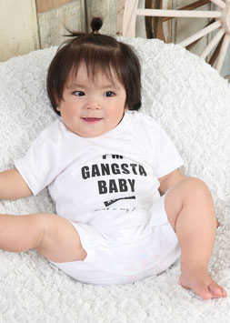 Gangsta Baby Rompers[White]