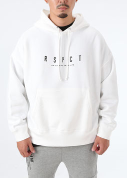 Over Size Sweat Pullover Parka [White]