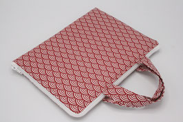 HOUSSE TABLETTE JAPONISANTE ROUGE