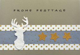 Weihnachtskarte Frohe Festtage (Nr. 11)