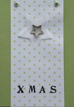 Weihnachtskarte X MAS (Nr. 10)