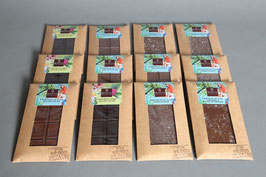 Assortiment de tablettes de chocolat