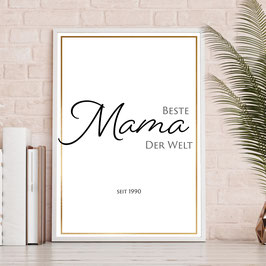 Beste Mama - Goldrand