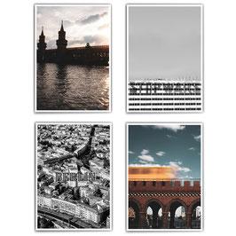 I love Berlin - 4er Poster Set