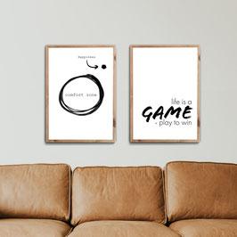 Zone Game - 2er Poster Set