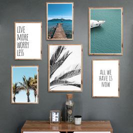 Live more - 6er Poster Set